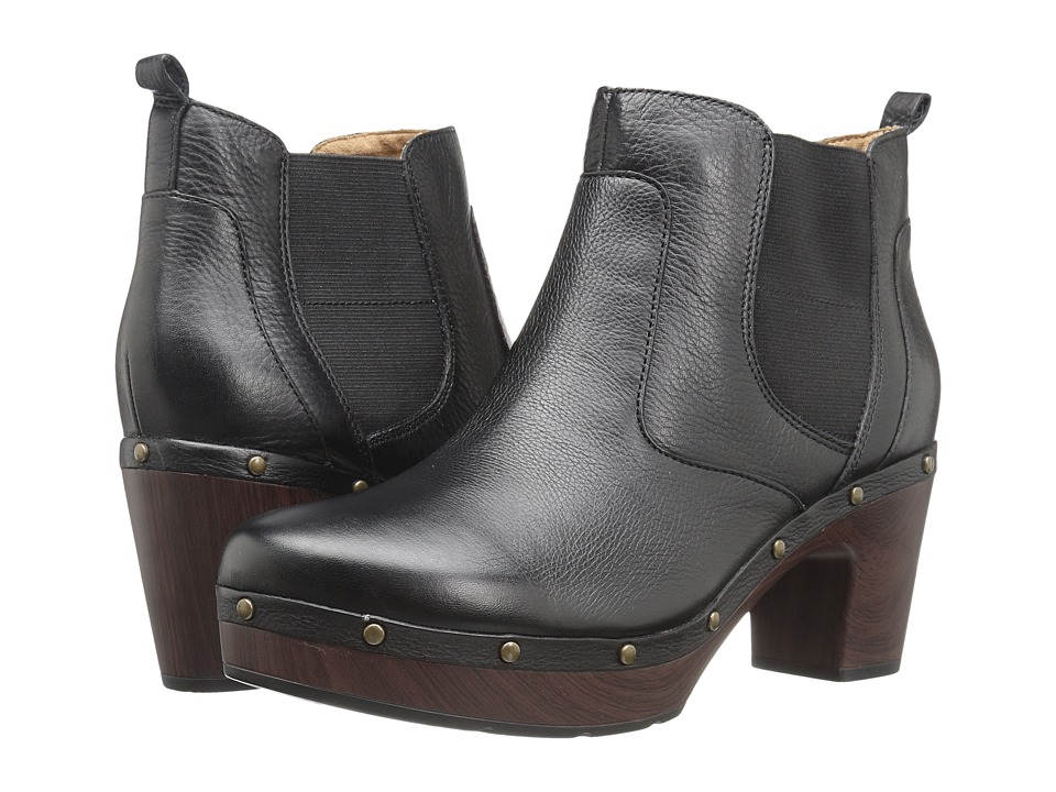 Clarks - Ledella Star (Black Leather) Women