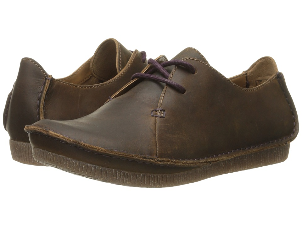 Clarks Janey Mae (Beeswax Leather) Women's Shoes