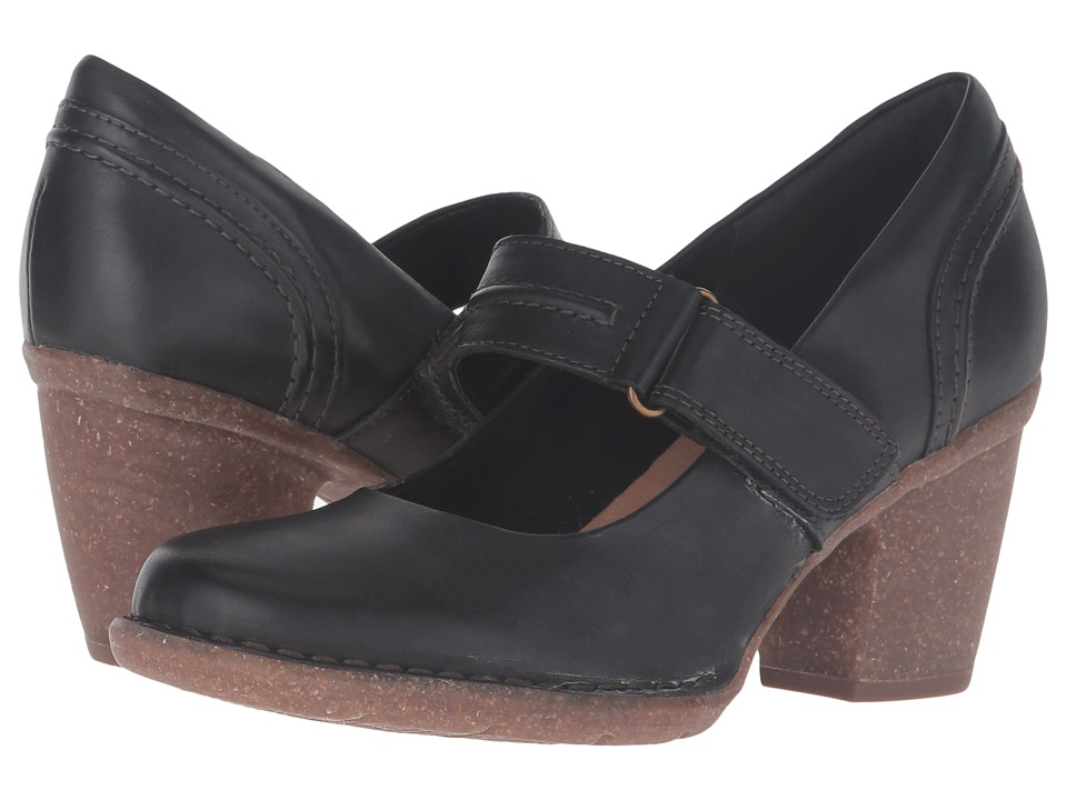 Clarks - Carleta Prato (Black Leather) Women
