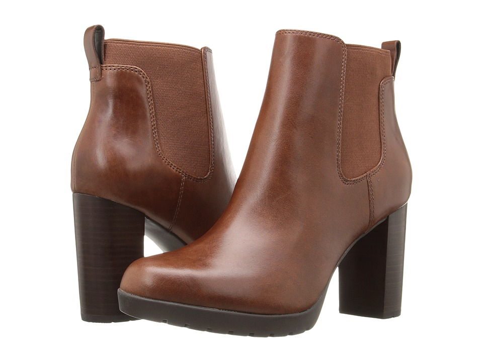Clarks - Elipsa Dee (Dark Tan Leather) Women