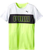 Puma Kids - Short Sleeve Color Block Tee (Big Kids)