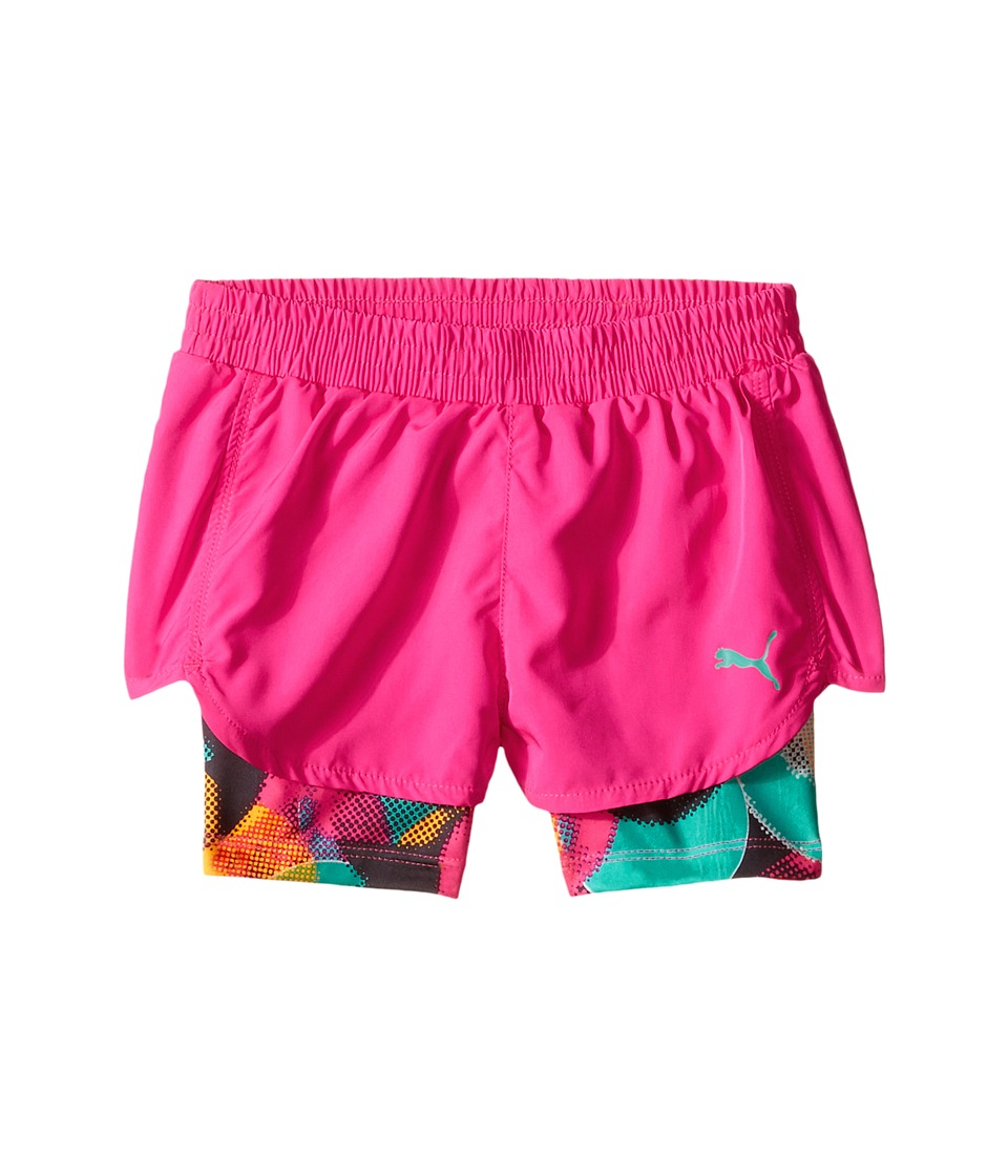 Puma Kids Bubble Running Shorts Little Kids Pink Glo Girls Shorts
