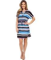 Adrianna Papell - Print Dolman Sleeve Dress