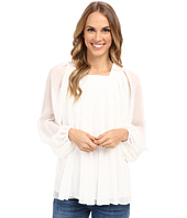 Adrianna Papell - Crinkle Chiffon Pleated Blouse
