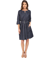 Adrianna Papell - Chambray Dress with Pocket