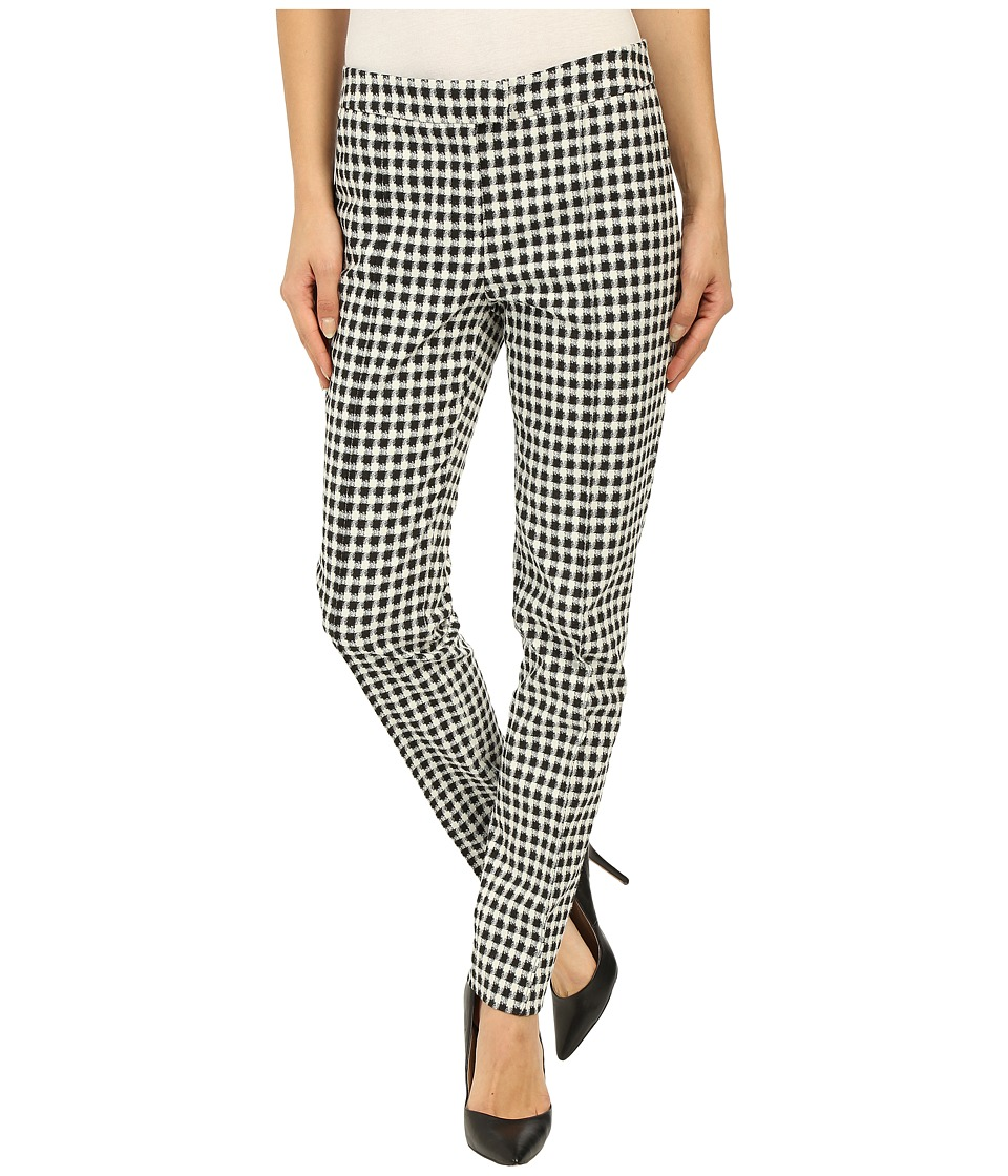 Adrianna Papell Gingham Jacquard Pants Ivory/Black Womens Casual Pants