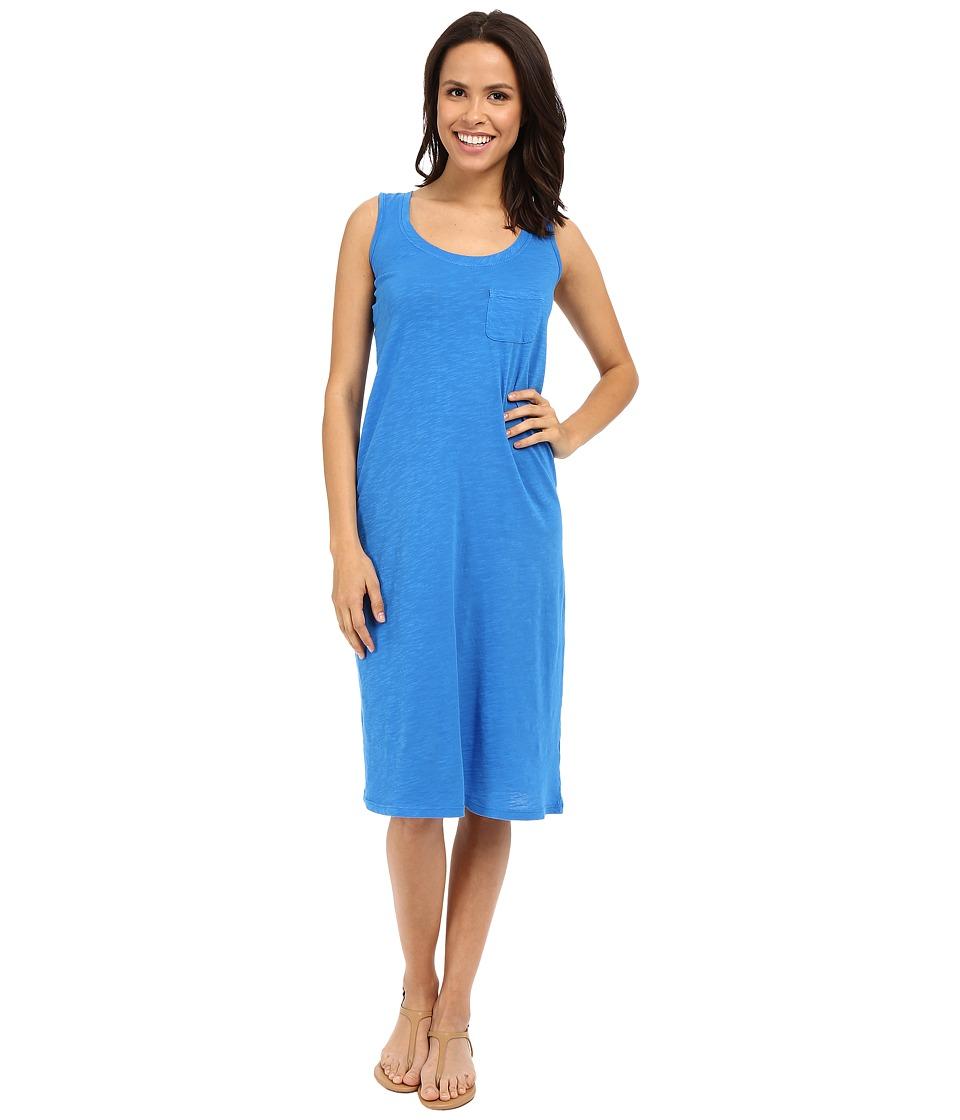 Allen Allen Racerback Tank Dress Blue Astor Womens Dress