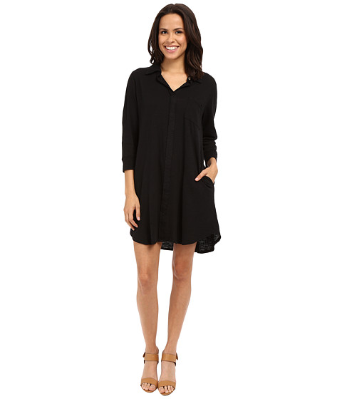 Allen Allen 3/4 Sleeve Shirtdress