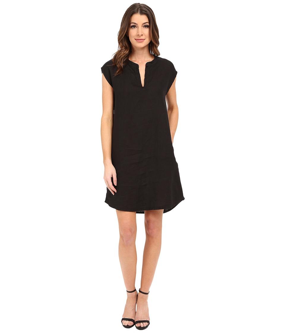 Allen Allen Sleeveless Split Neck Dress Black Womens Dress