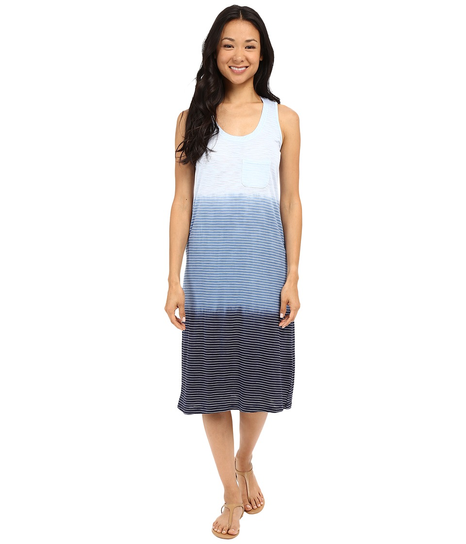 Allen Allen Dip Dye Tank Dress Lapis Womens Dress