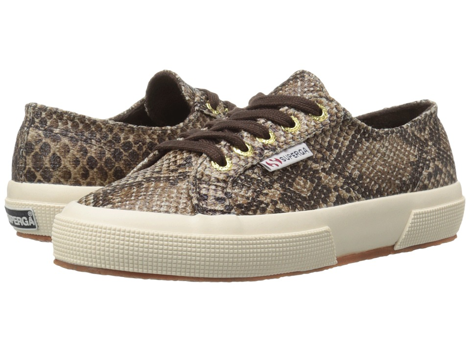 Superga 2750 Cot Snake W Brown Womens Lace up casual Shoes