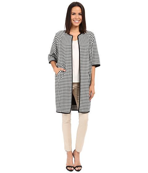 Adrianna Papell Gingham Jacket Coat
