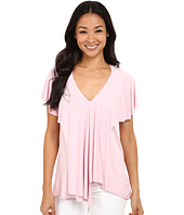 Adrianna Papell - V-Neck Asymetric Body with Ruffle