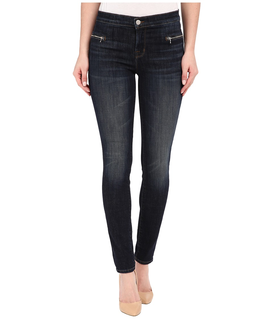 J Brand Emma Mid Rise Super Skinny w/ Exposed Front Zipper in Reserved Reserved Womens Jeans