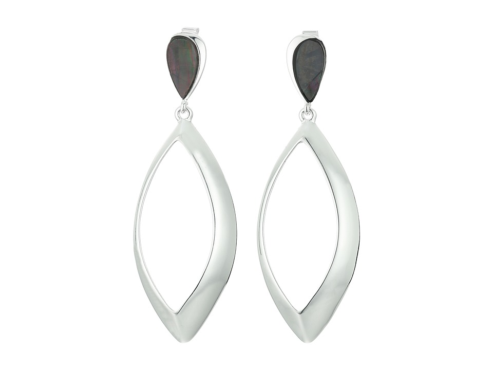 Robert Lee Morris - Large Teardrop Stone Accent Earrings (Black) Earring