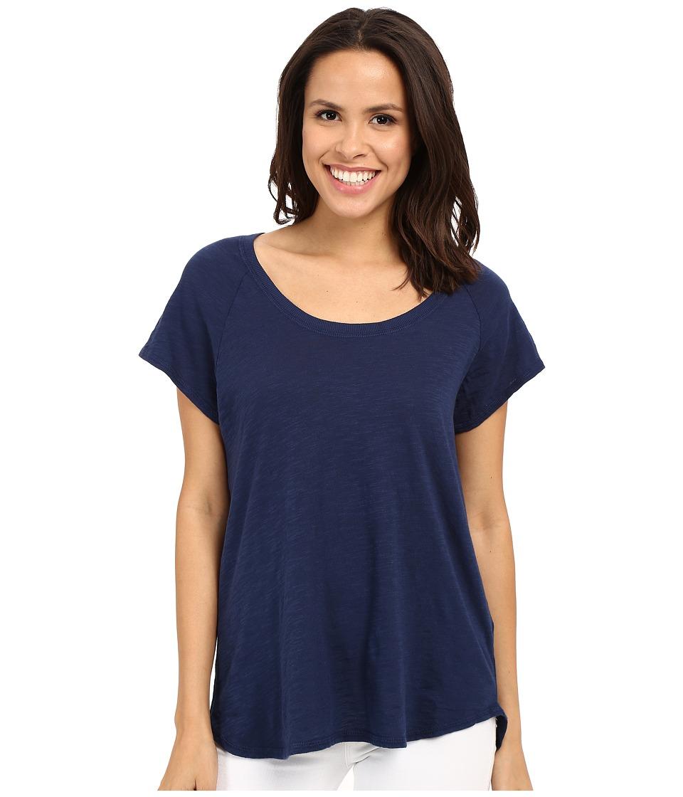 Allen Allen Short Sleeve Raglan Tee Lapis Womens Short Sleeve Pullover