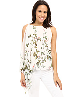 Adrianna Papell - Asymmetrical Scarf Print Top
