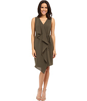 Adrianna Papell - Crepe Sleeveless Draped Dress