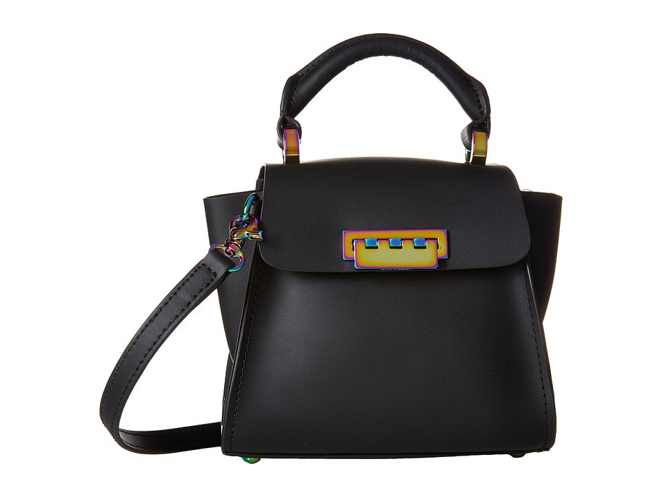 ZAC Zac Posen - Eartha Iconic Top-Handle Mini (Black/Oyster Hardware) Top-handle Handbags