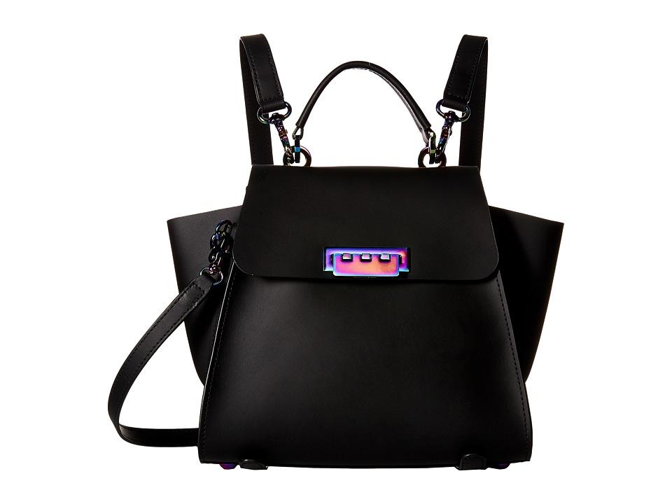 ZAC Zac Posen - Eartha Iconic Convertible (Black/Oyster Hardware) Convertible Handbags