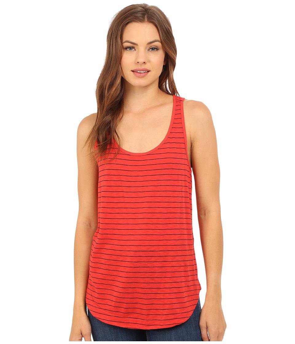 Splendid Catalina Stripe Jersey Tank Top Fiery Red Womens Sleeveless