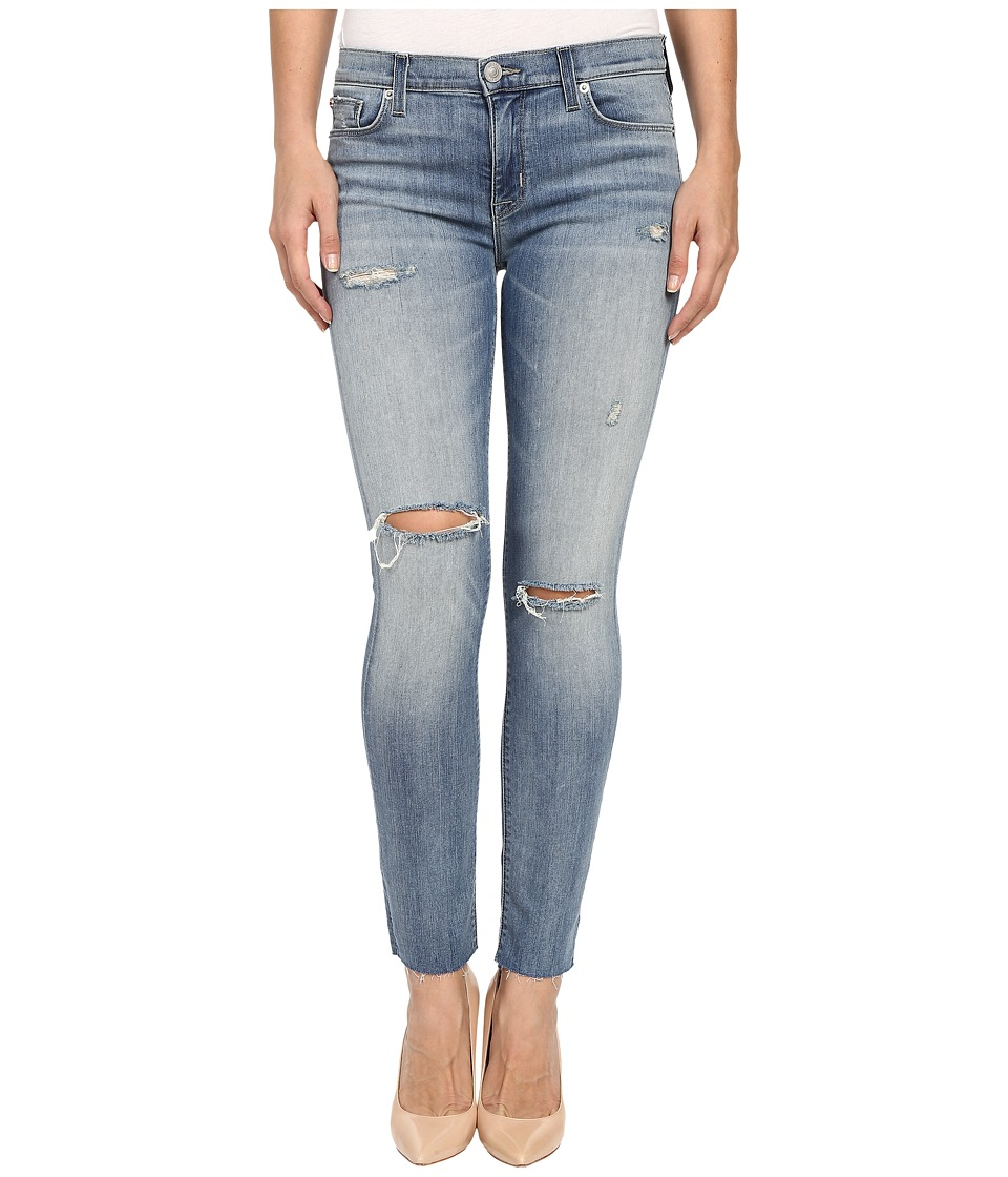 Hudson Shine Mid Rise Ankle Skinny Raw Hem in Rescue Mission Rescue Mission Womens Jeans