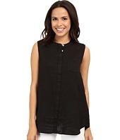 Allen Allen - Linen Mock Collar Shirt