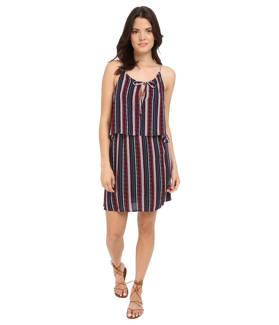 Splendid Beachcomber Stripe Dress Fiery Red/Navy Womens Dress