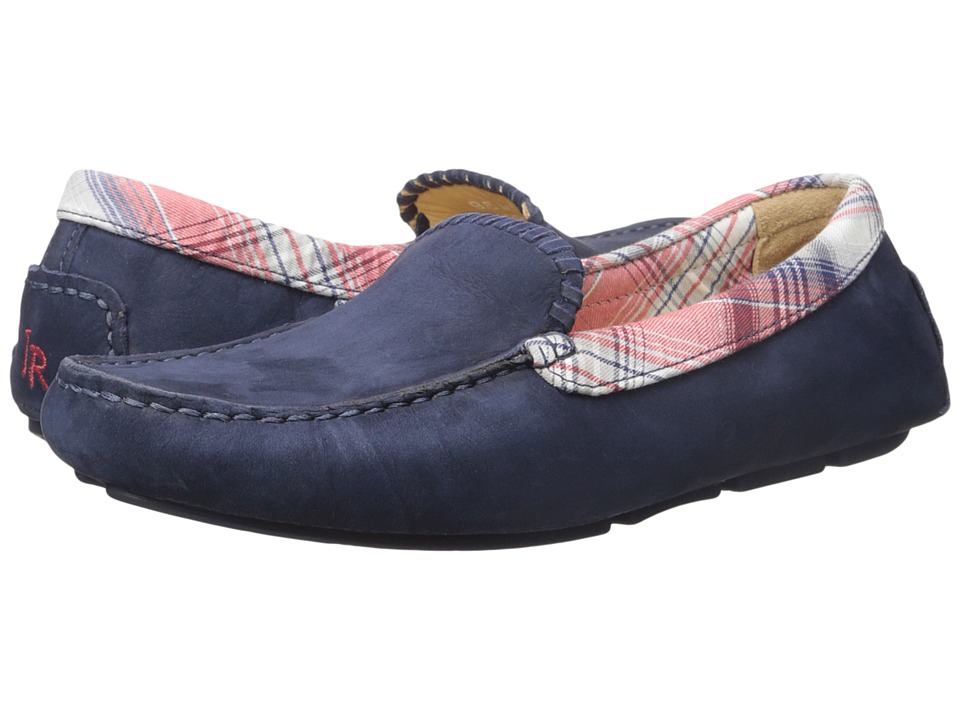 Jack Rogers Barrett Suede Navy Mens Slip on Shoes