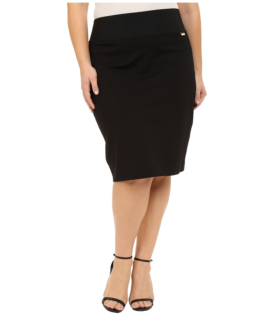 Calvin Klein Plus - Plus Size Skirt (Black) Womens Skirt