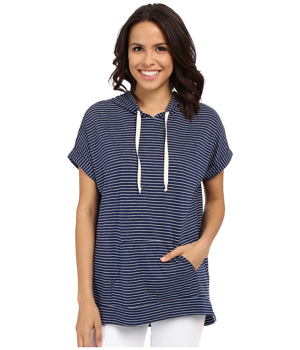 Allen Allen Stripe Hoodie Lapis Womens Sweatshirt