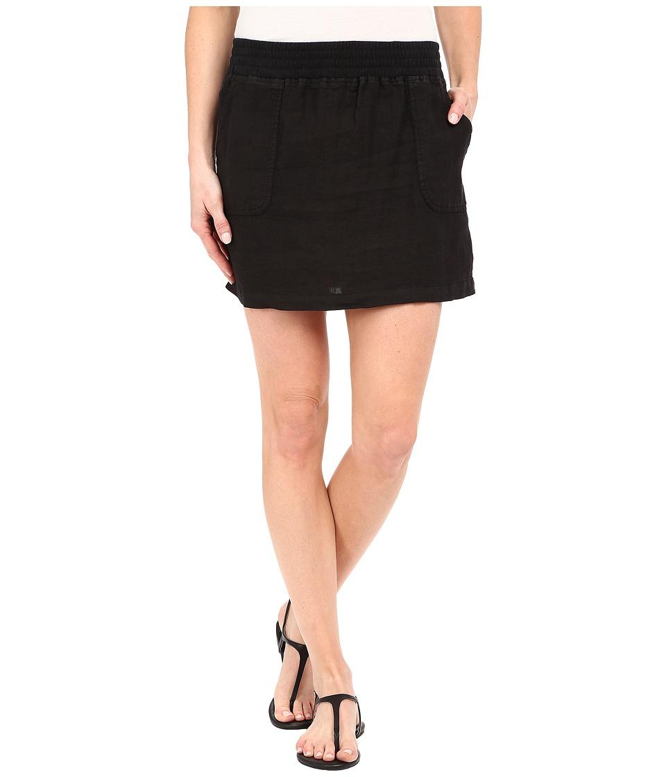 Allen Allen Short Cargo Skirt Black Womens Skirt