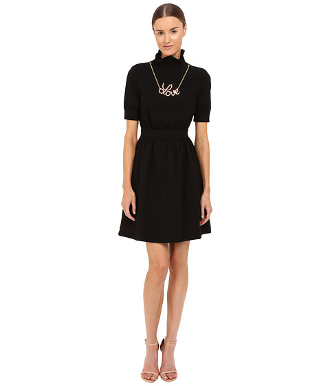 LOVE Moschino Dress with Gold Love Necklace
