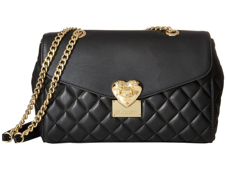 LOVE Moschino - Quilted Crossbody (Black) Cross Body Handbags