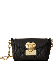 LOVE Moschino - Quilted Flap Front Heart Crossbody