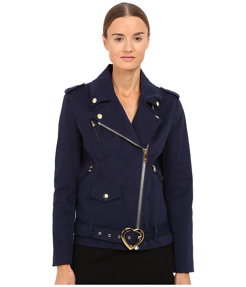 LOVE Moschino Coat with Heart Buckle