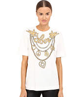LOVE Moschino - T-Shirt with Gold Love