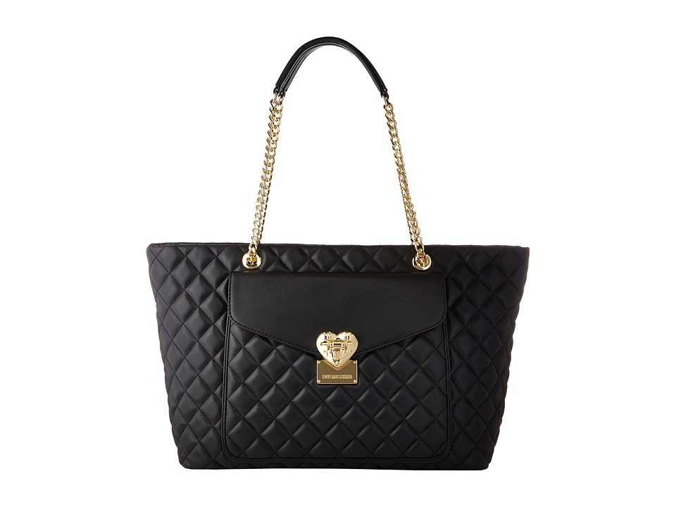 LOVE Moschino - Quilted Tote (Black) Tote Handbags