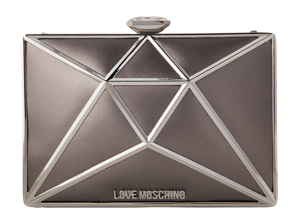 LOVE Moschino - Onyx Clutch (Silver) Clutch Handbags