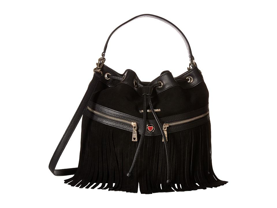 LOVE Moschino - Fringe Bucket Bag (Black) Bags