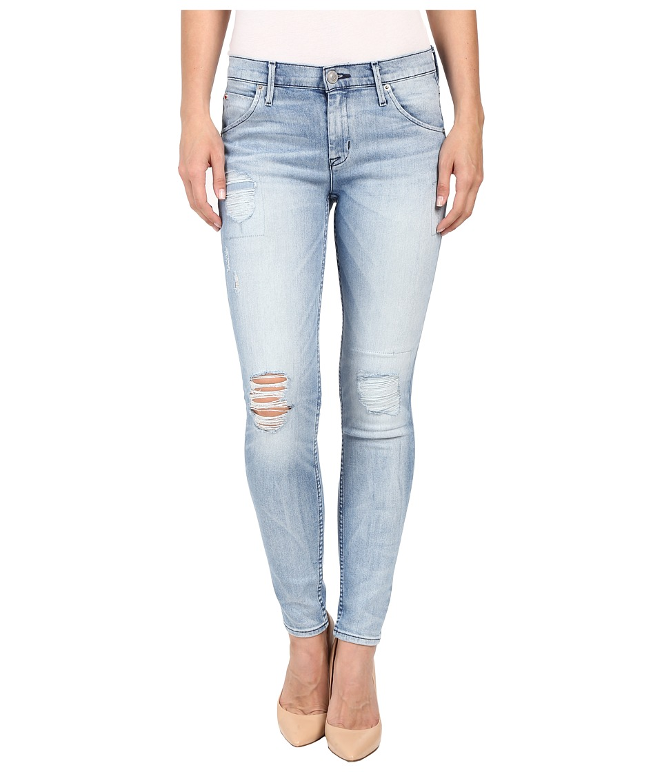 Hudson Lilly Mid Rise Ankle Skinny with Distress in Rialto Rialto Womens Jeans