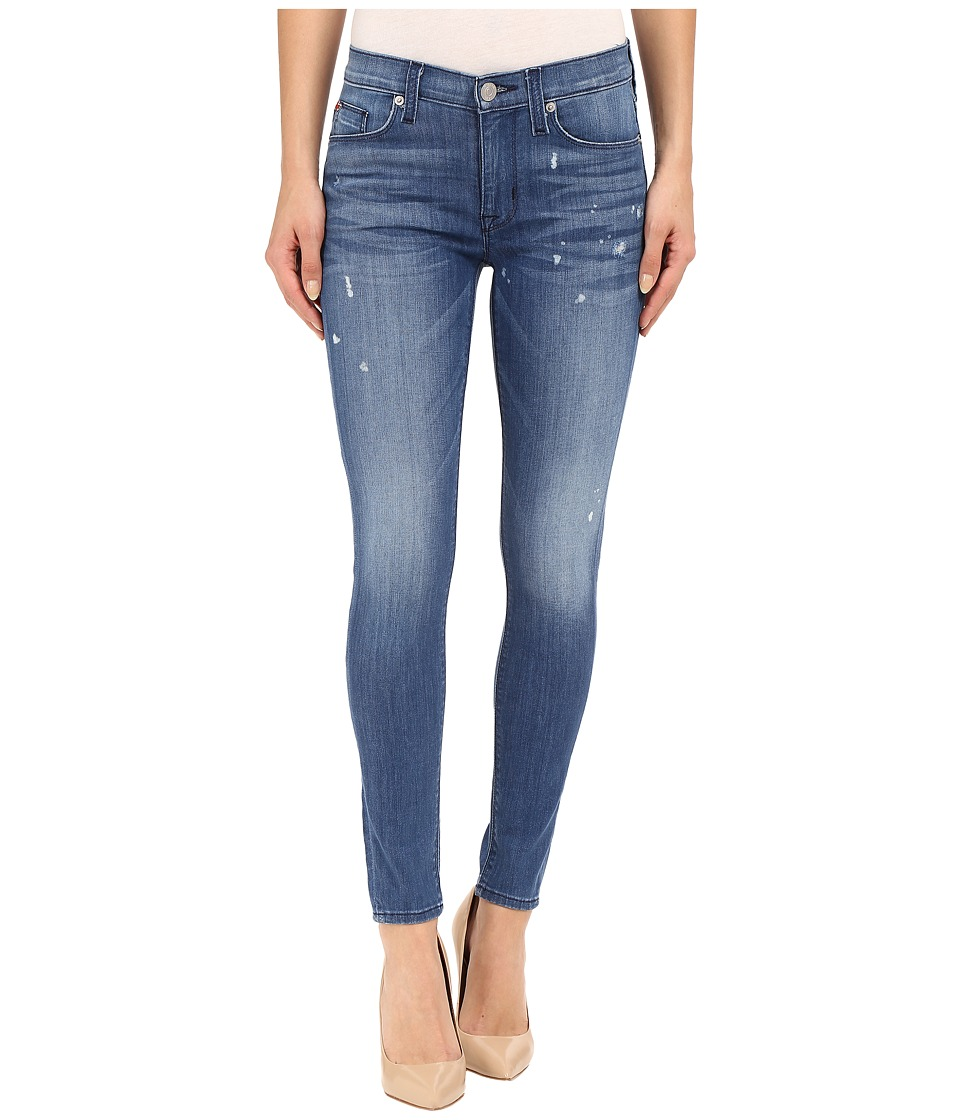 Hudson Nico Mid Rise Ankle Skinny with Distress in Wipeout Wipeout Womens Jeans