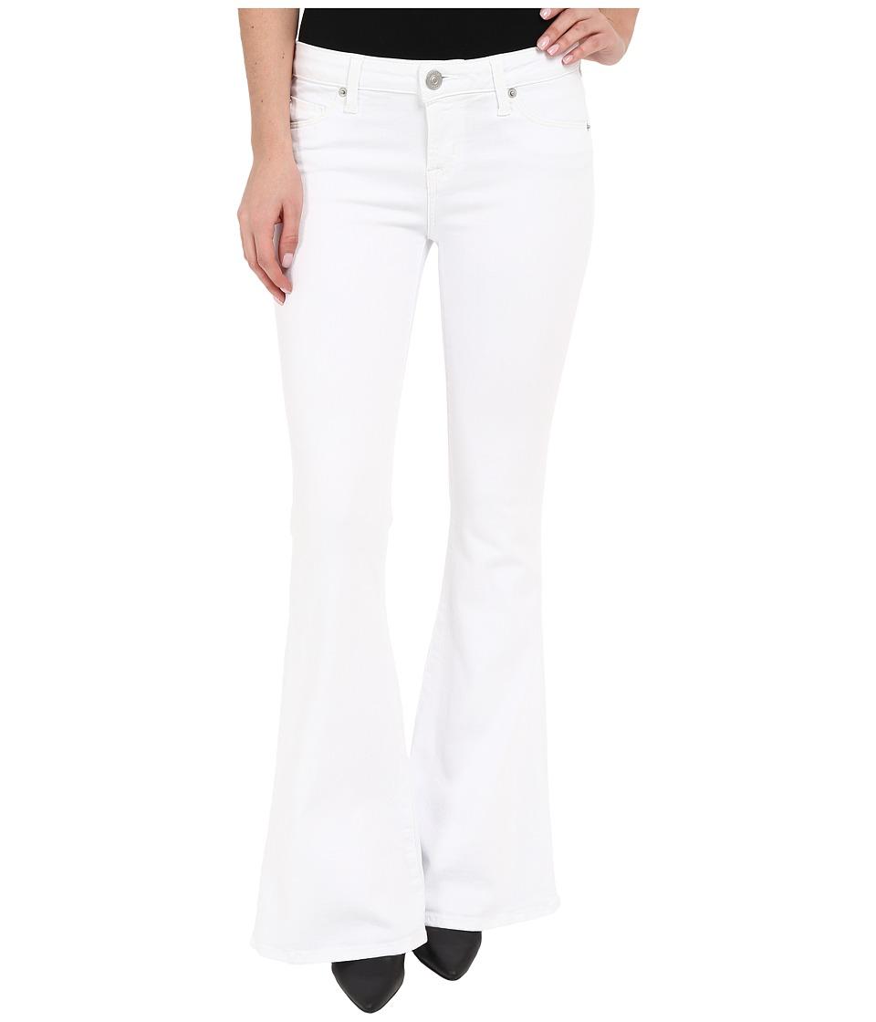 Hudson Mia Barefoot Length Flare in White 2 White 2 Womens Jeans