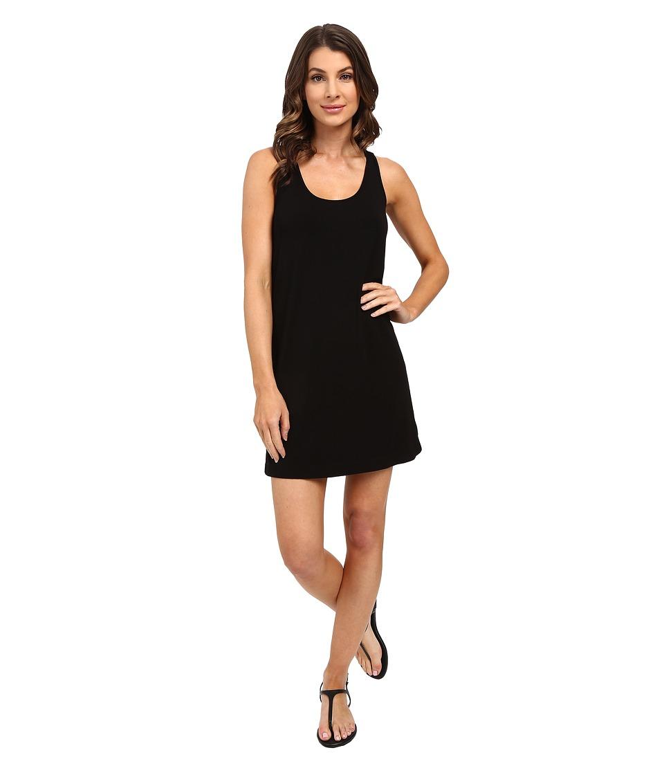 Splendid Rayon Jersey Cross Back Dress Black Womens Dress