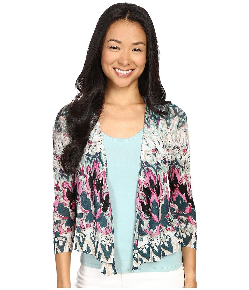 NICZOE Petite Rosette 4 Way Cardy Multi Womens Sweater