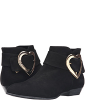 LOVE Moschino - Suede Heart Buckle Ankle Bootie