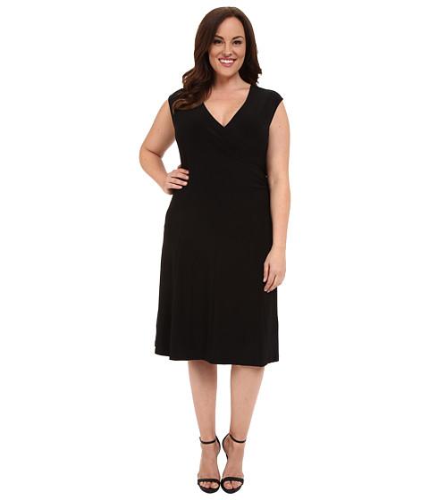 NIC+ZOE Plus Size Wrap Dress - Black Onyx