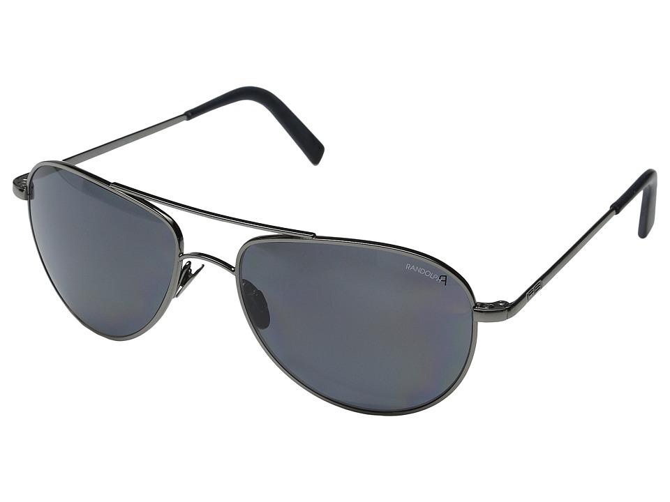 Randolph Hawk 57mm Polarized Dark Ruthenium/Gray Polarized PC/Skull Temple Fashion Sunglasses