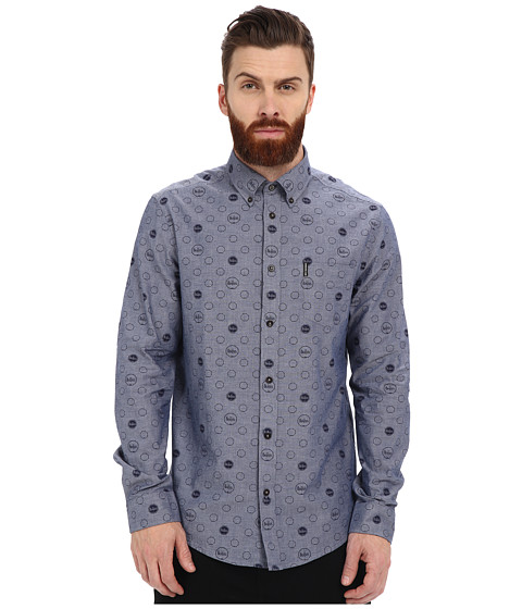 Ben Sherman Long Sleeve Beatles Drumprint Chambray MA12758A