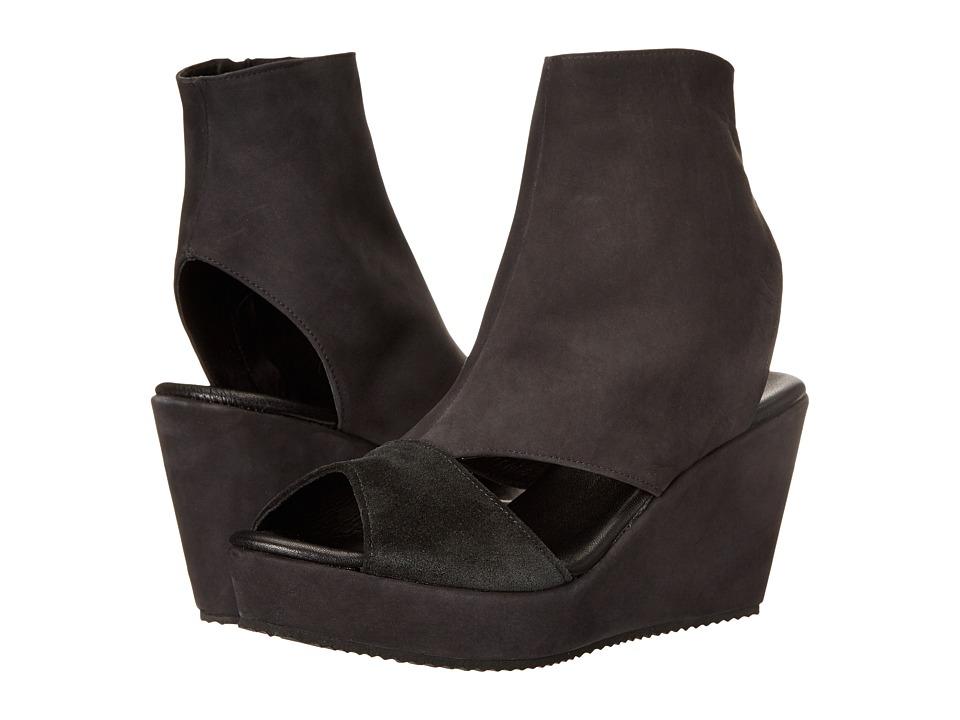 Cordani Fen Black Nubuck Womens Wedge Shoes